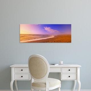 Easy Art Prints Panoramic Image 'Waves on the beach, North Beach, Point Reyes National Seashore, California' Canvas Art