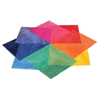 "Color Spectrum Plush Accent Rug - 48"" X 48"""