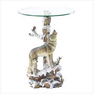Wolf Table with Glass Table Top