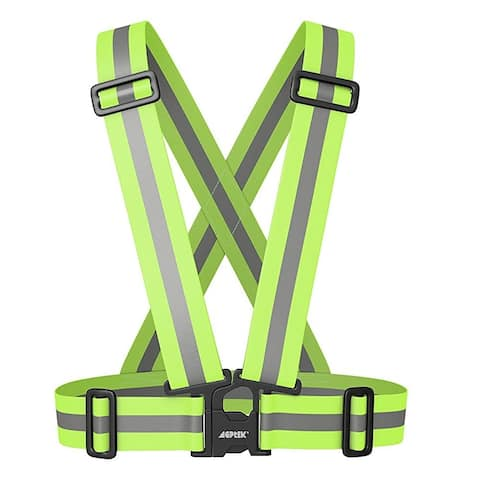 Image Reflective Vest Harness High Visibility for Safety Running Cycling Adjustable - SIZE