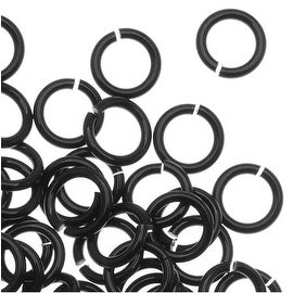 Artistic Wire, Chain Maille Jump Rings, 20 Ga / ID 3.57mm / 180pc, Black Color