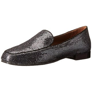 Donald J. Pliner Womens Elana Suede Trim Glitter Loafers - 6.5 medium (b,m)
