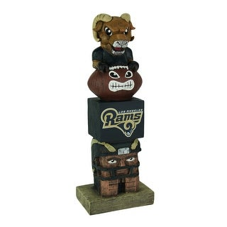 NFL Los Angeles Rams Tiki Totem Statue 15 inch - Brown