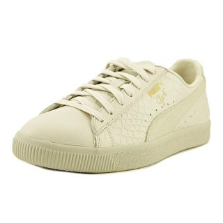 Puma Clyde Dressed Men  Round Toe Leather White Sneakers