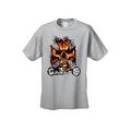 Men's T-Shirt Biker Skull Flames Motorcycle Skeleton Rider Grim Reaper Chopper - Thumbnail 8