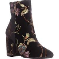 STEVEN Steve Madden Lissa Mid Calf Boots, Black Multi - 7.5 us