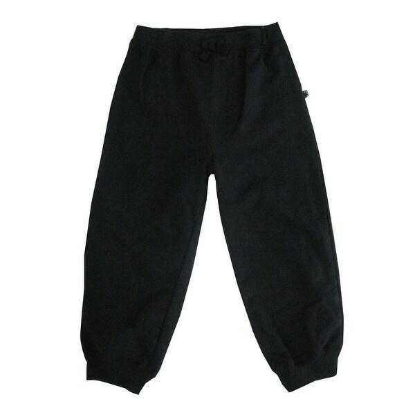 e843151d6810 Shop Little Me Little Boys Black Solid Color Adjustable Waist Sweat ...
