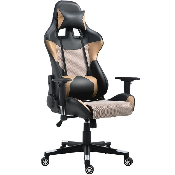 Costway Executive Gaming Chair Racing Office Chair High Back w/Lumbar Support u0026&; Headrest  sc 1 st  Overstock.com & Shop Costway Executive Gaming Chair Racing Office Chair High Back w ...