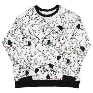 Disney 101 Dalmatians Allover Pattern Juniors Long Sleeve Pullover Top