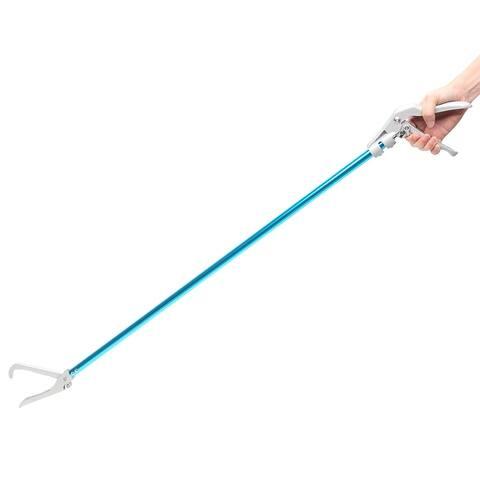"""27""""/42"""" Snake Clamp Snake Catcher Snake Feeding Use Aluminum Alloy Blue - Silver & Blue"""