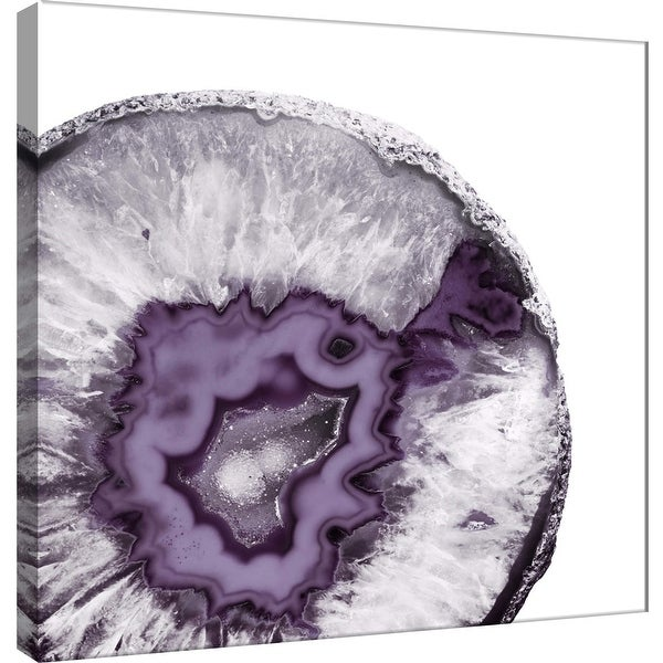 """PTM Images 9-101157 PTM Canvas Collection 12"""" x 12"""" - """"Plum Agate B"""" Giclee Minerals and Rocks Art Print on Canvas"""