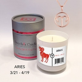 Aries Zodiac Sign Jewelry Candle
