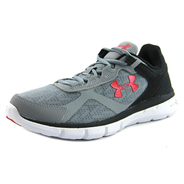 Under Armour Micro G Velocity RN Men Round Toe Synthetic Gray Running Shoe