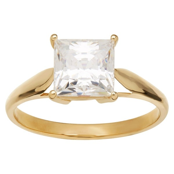 3ct Cubic Zirconia Engagement Ring in 10K Gold