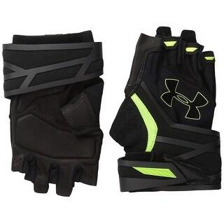 Under Armour Resistor Half-Finger Training Glove, Black/Fuel Green, Small/Medium - SM