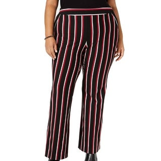 Link to INC Womens Dress Pants Black Size 24W Plus Bootcut Striped Stretch Similar Items in Pants
