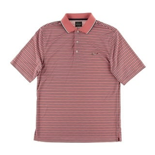 Greg Norman Mens PlayDry Striped Polo