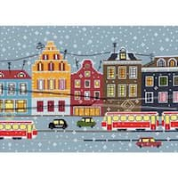"""11.75""""X8.25"""" 14 Count - Tram Route Counted Cross Stitch Kit"""