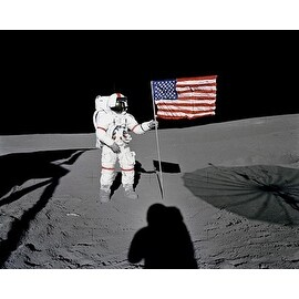 ''Apollo 14 Astronaut Alan Shepard on the Moon, February 5, 1971'' by McMahan Photo Archive Americana Art Print (8 x 10 in.)