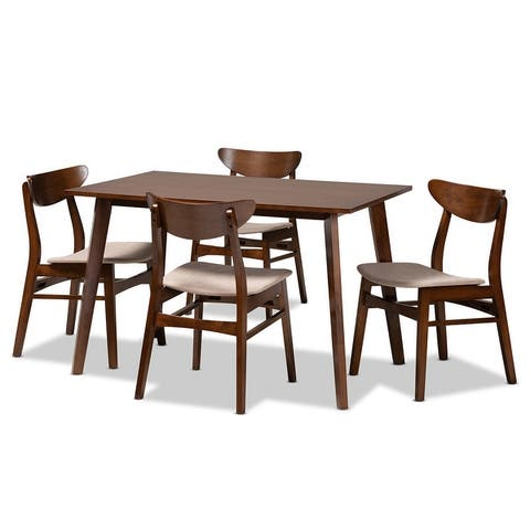 Orion Mid-Century Modern Transitional 5-Piece Dining Set