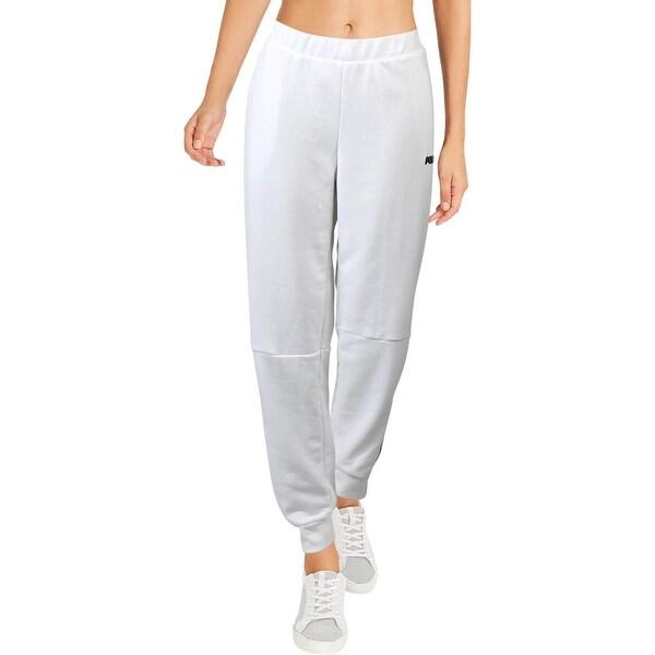 puma white joggers