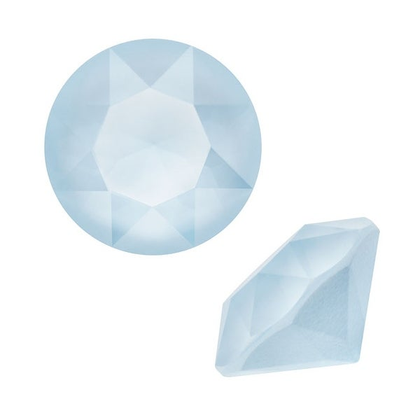 Swarovski Elements Crystal, 1088 Xirius Round Stone Chatons ss39, 6 Pieces, Crystal Powder Blue