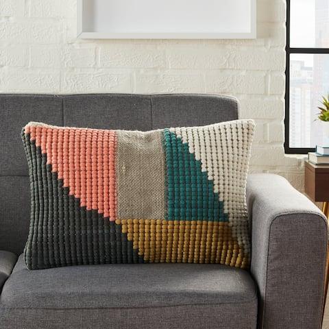 Porch & Den Mt. Olive Geometric Woven Throw Pillow