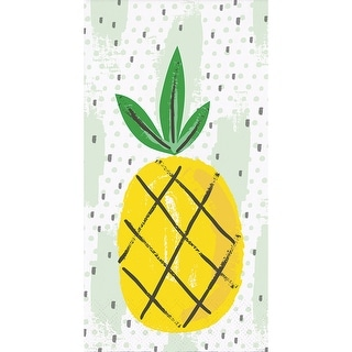 """Pack of 192 Summer Pineapple Fruit Pattern 3-Ply Party Napkins 8"""" - N/A"""