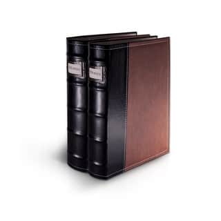 Bellagio-Italia Brown Leather CD/DVD Binder 2 pack|https://ak1.ostkcdn.com/images/products/is/images/direct/23ee1dfb8d3376e536d38e5e637a58946653cca2/Bellagio-Italia-Brown-Leather-CD-DVD-Binder-2-pack.jpg?impolicy=medium