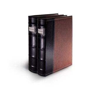 Bellagio-Italia Brown Leather CD/DVD Binder 2 pack