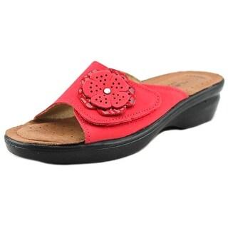Spring Step Fabia Women Open Toe Leather Slides Sandal