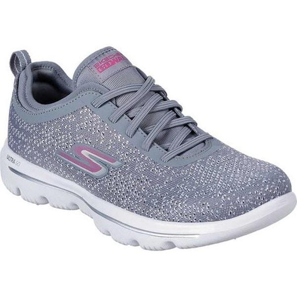 0b47dfa9514e Skechers Women  x27 s GOwalk Evolution Ultra Mirable Walking Shoe Gray Pink