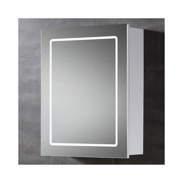 """Miseno MBC2428LED 20""""W x 24""""H Single Door Reversible Hinge Mirrored Medicine Cabinet for Surface Mount Installations with LED"""