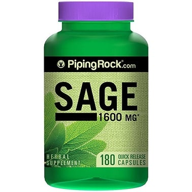 Piping Rock Sage 1600 mg (180 Quick Release Capsules)