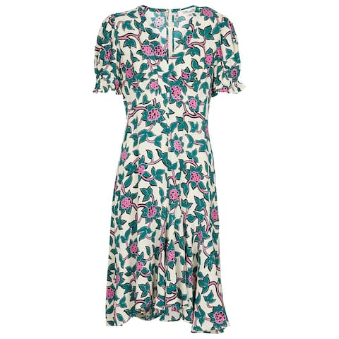 DVF Diane von Furstenberg Alexis Printed Crepe Mini Dress