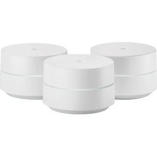 Google - Google Wifi AC1200 Dual-Band Whole Home Wi-Fi System (3-Pack) - White