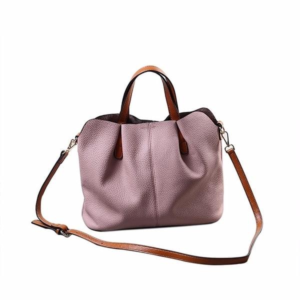 Fashion Fold Leather Handbag Shoulder Bag Mobile Messenger Bag