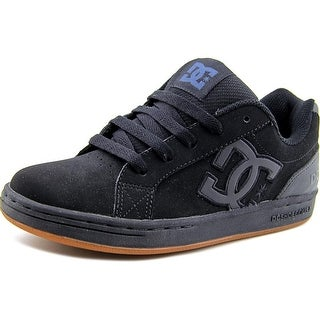 DC Shoes Clemente Youth  Round Toe Leather Black Skate Shoe