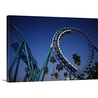 Premium Thick-Wrap Canvas entitled Roller Coaster at Knott's Berry Farm