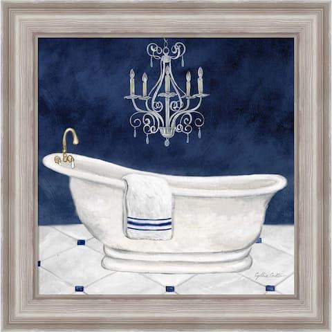 Cynthia Coulter 'Navy Blue Bath I' Framed Art