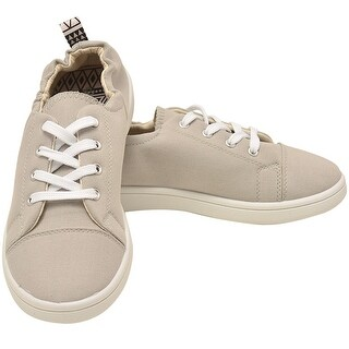 Qupid Adult Gray Canvas Lace-Up Closure Casual Sneaker Shoes