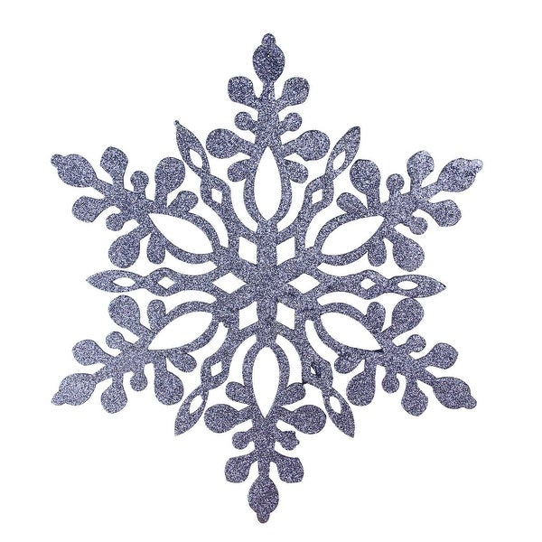 "9.75"" Navy Blue Glittered Snowflake Christmas Ornament"