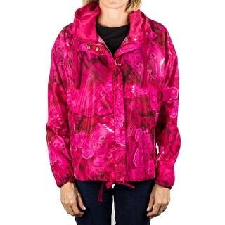 Moncler Gamme Rouge Lightweight Winderbreaker Jacket Rose Pink Women's