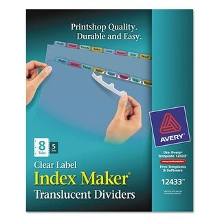Avery-Dennison Index Maker Print & Apply Clear Label Plastic