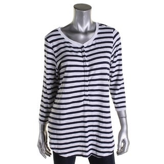 Lilla P Womens Casual Top Knit Striped - l