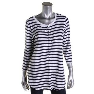 Lilla P Womens Casual Top Knit Striped