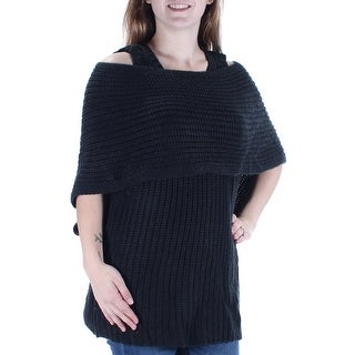 CATHERINE $98 Womens New 1278 Black Cut Out Textured Short Sleeve Sweater M B+B
