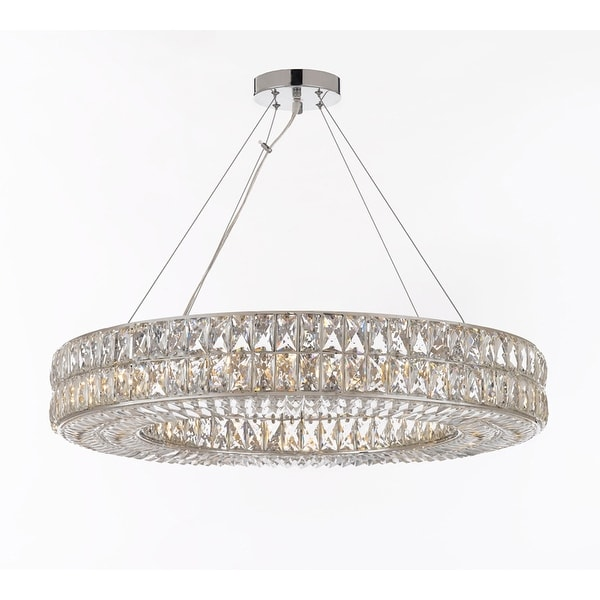 Crystal Spiridon Ring Chandelier Modern Lighting 12 Lights