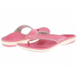 Spenco NEW Pink White Women's Shoes Size 5M Canvas Slippers