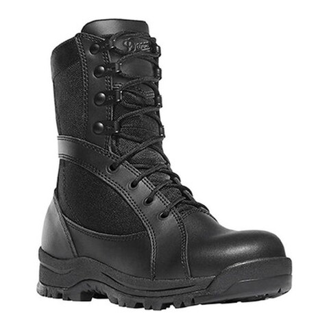 """Danner Women's Prowess Side-Zip 8"""" Military Boot Black Leather/Nylon"""